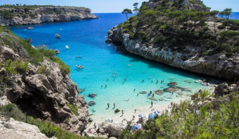 beach, mallorca, bay