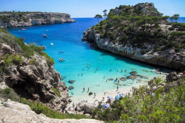 beach, mallorca, bay