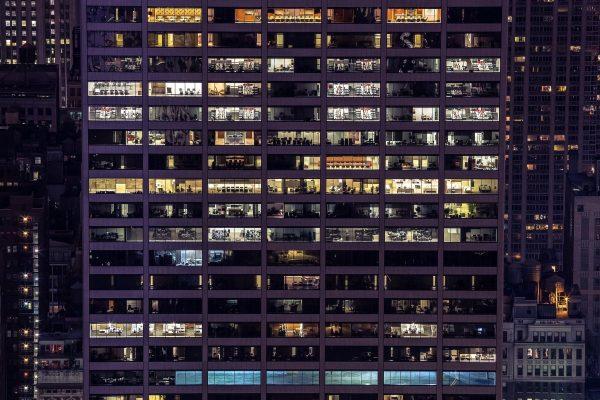 building, exterior, office building