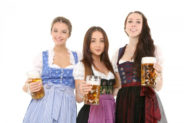 girl, beer, celebrate
