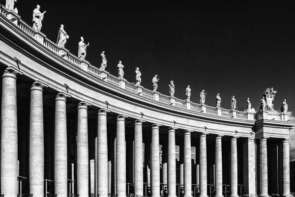 st peter's square, columns, pillars