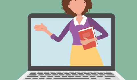 teacher, education, online learning