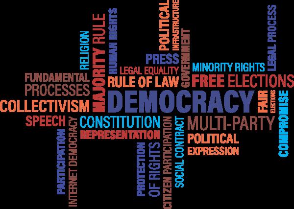 word cloud, democracy, freedom