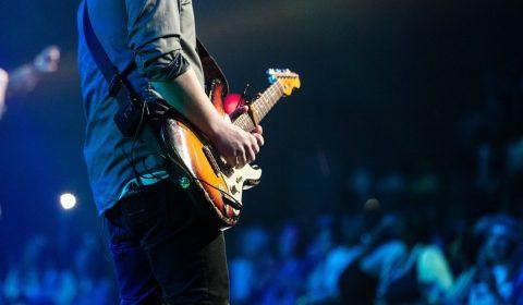audience, concert, guitar
