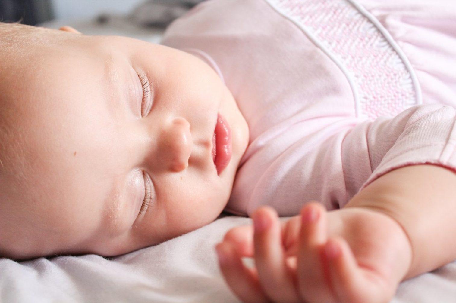 baby, newborn, bed