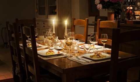 dinner, table, home