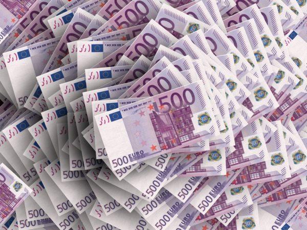 euro, stack, money
