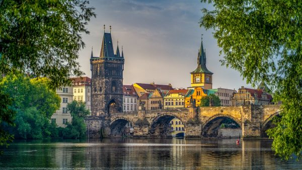 prague, bridge, city
