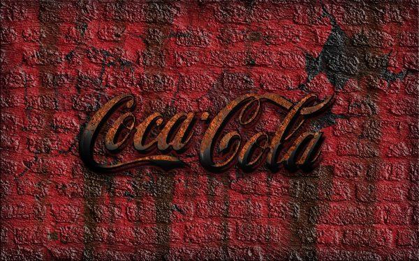 coke, coca-cola, brick wall