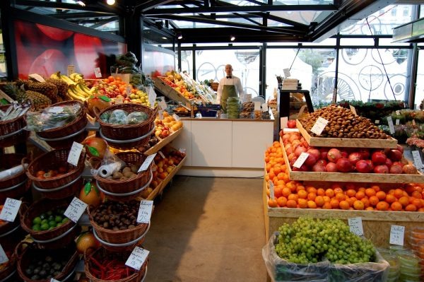 fruits, shop, market