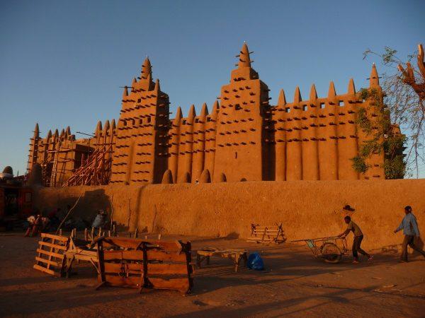 mosque, mali, mud