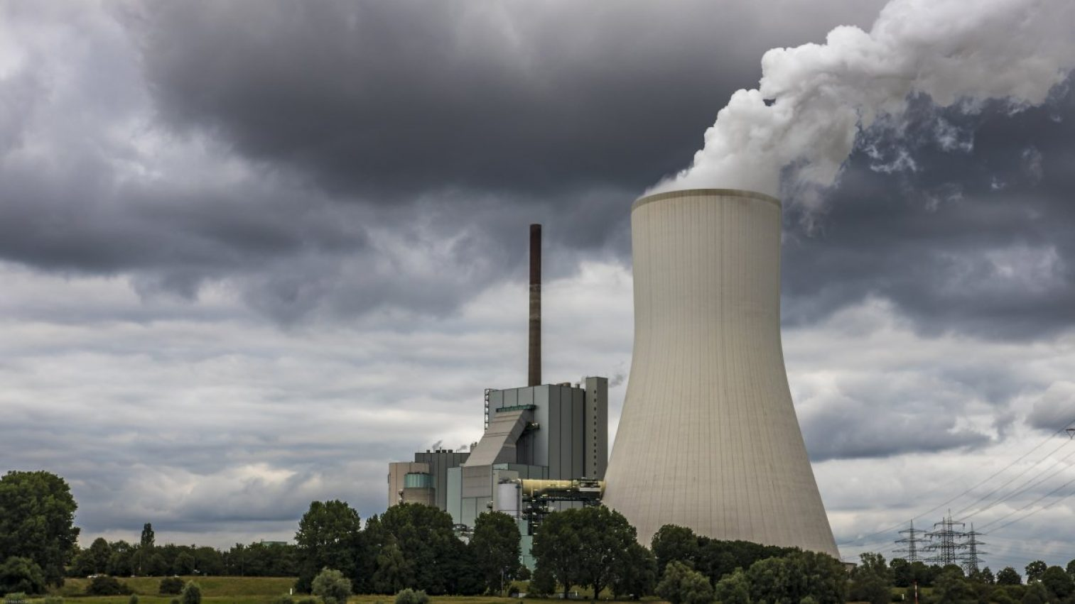 power plant, cooling tower, industry