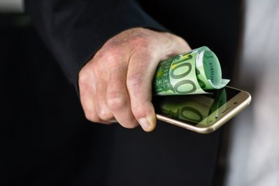 smartphone, money, finance