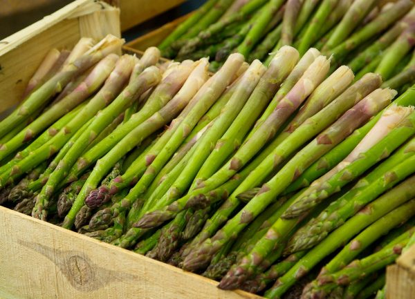 vegetable, asparagus, market