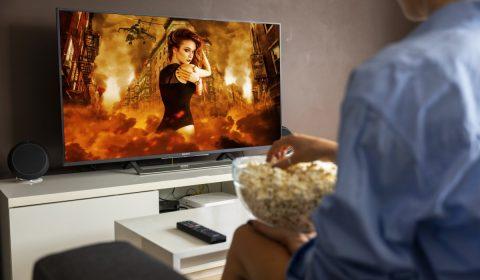 tv, popcorn, film