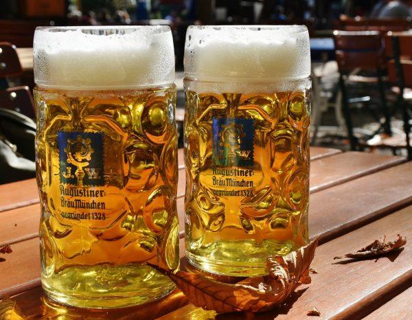 beer, measured beer, beer mug