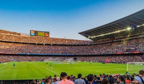 Camp Nou, Barcelona, Spain.