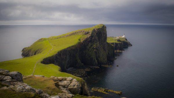 scotland, lighthouse, landscape