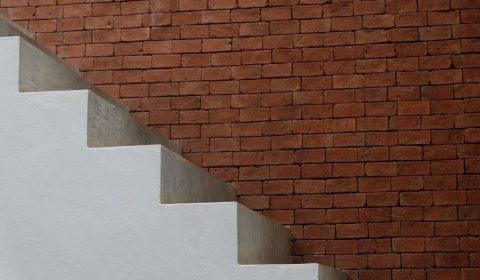 stair, wall, white
