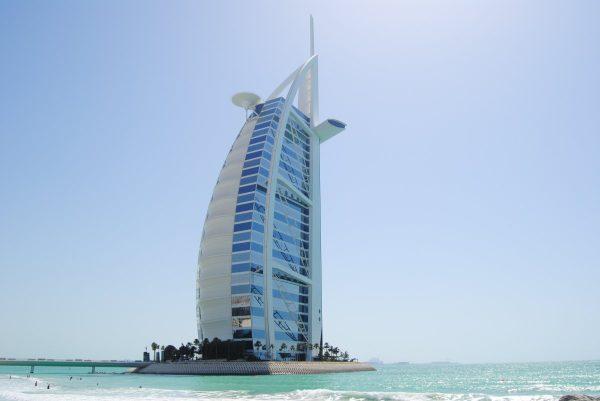 dubai, burj al arab, sails a ship