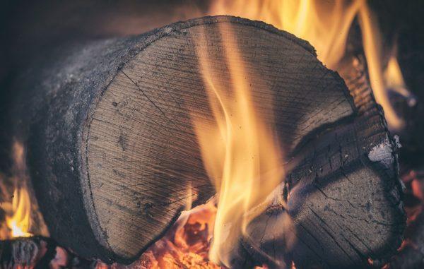 log, wood, fire