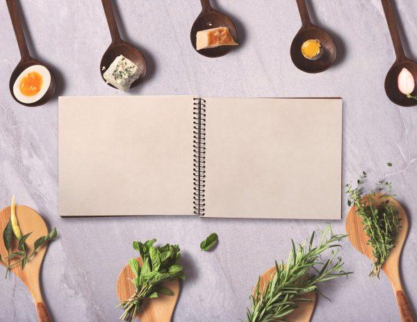 menu, notebook, background