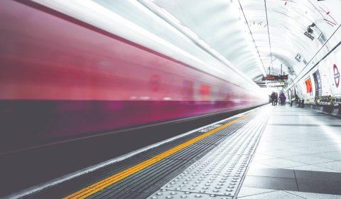 metro, subway, train