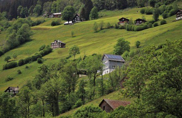 hill, meadows, quiet