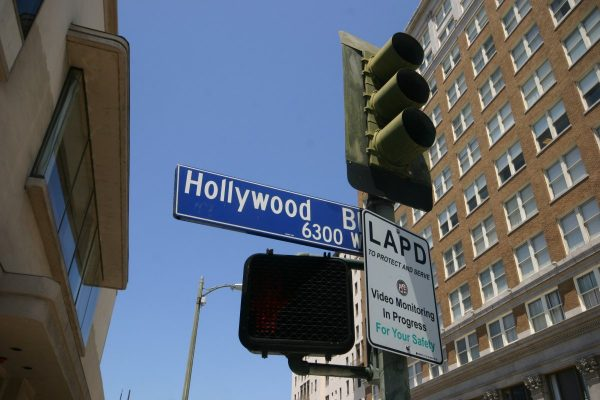 hollywood, street sign, los angeles