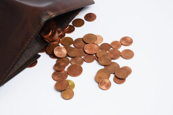 wallet, coins, euro