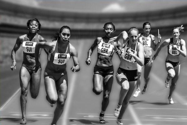 women, running, race